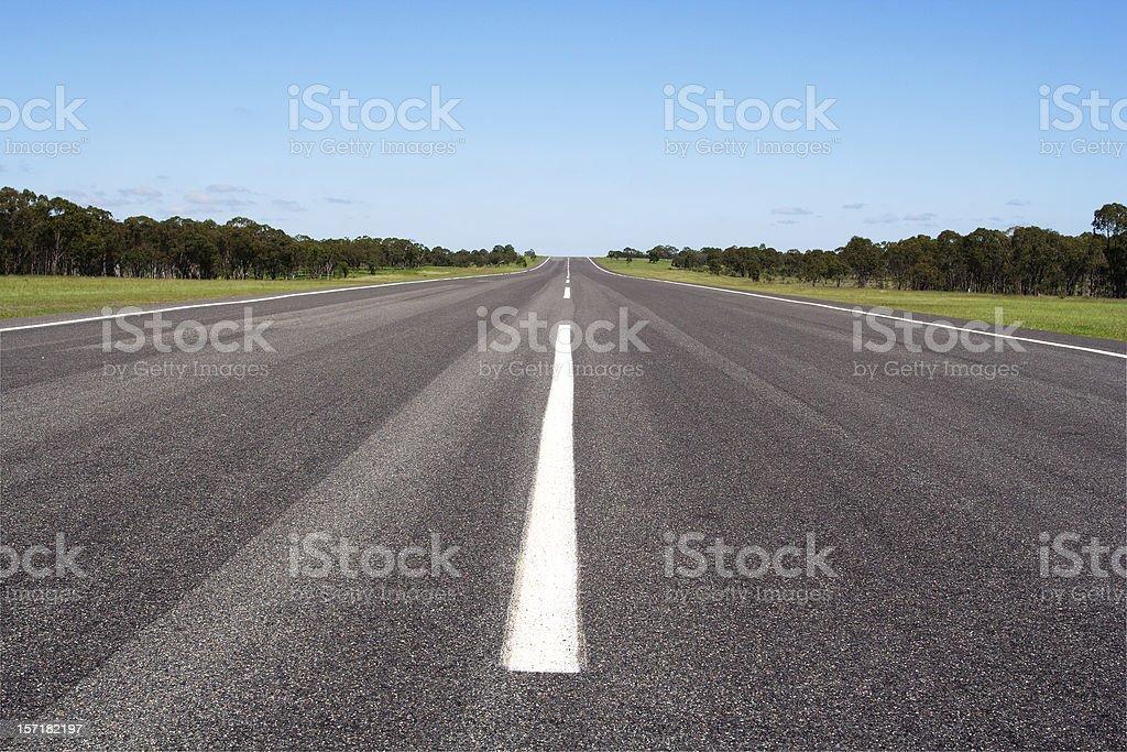 open road and horizon stock photo