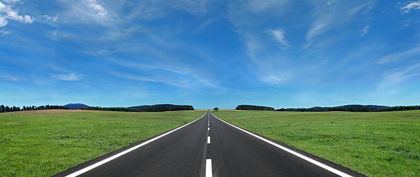 open road - straight stock photos and pictures