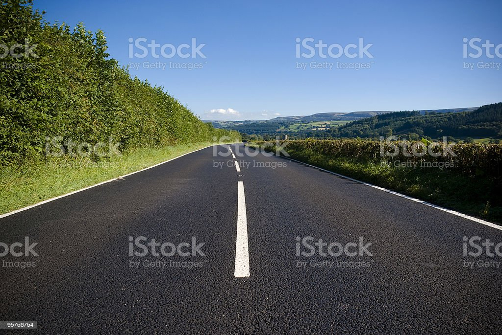 Open road  Agricultural Field Stock Photo