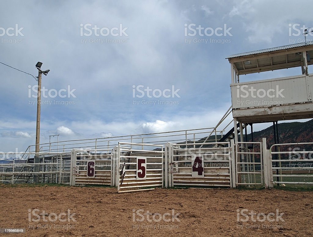 Open Rodeo Gate stock photo