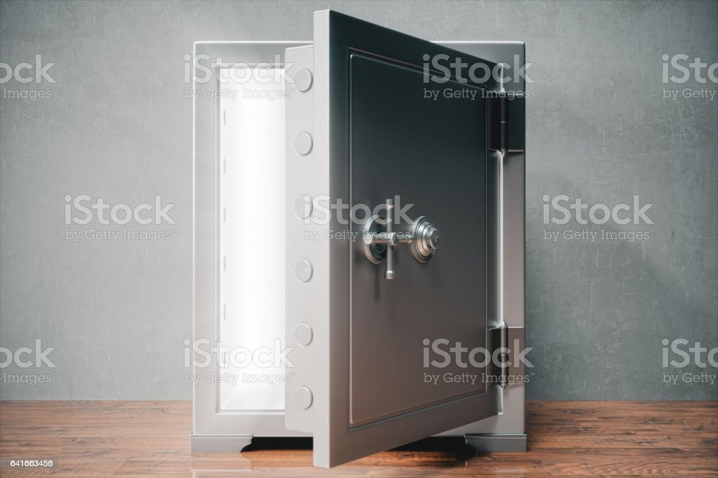 Open Safe With Light stock photo