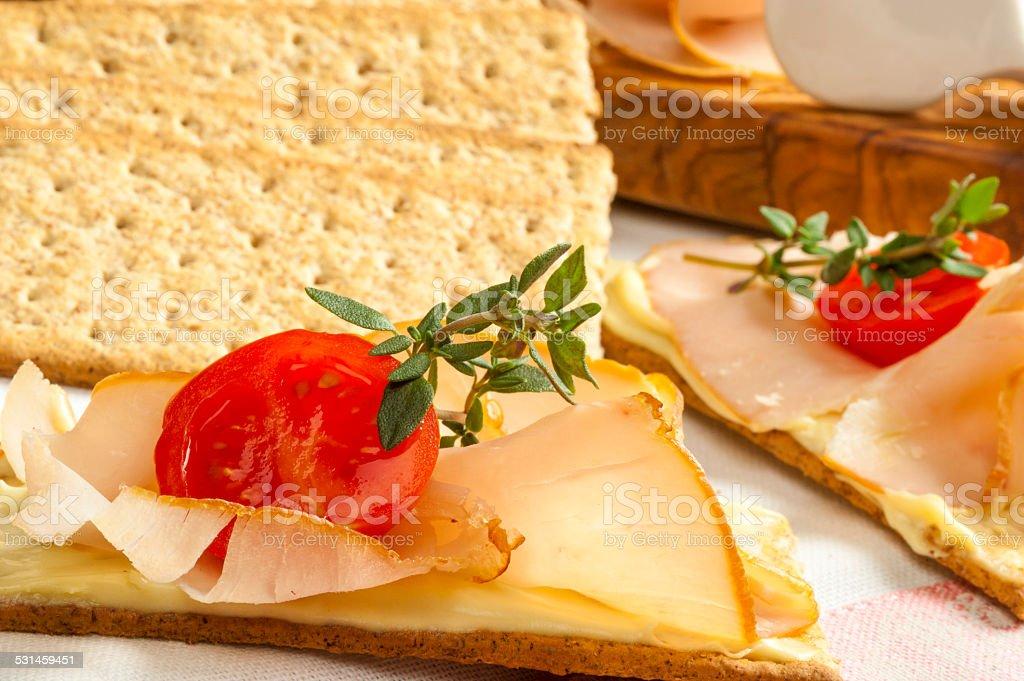 Open Sandwich stock photo