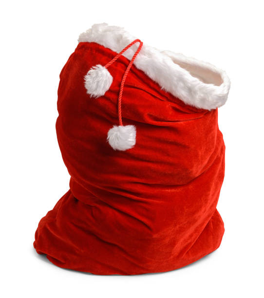 open santa bag - sack stock pictures, royalty-free photos & images