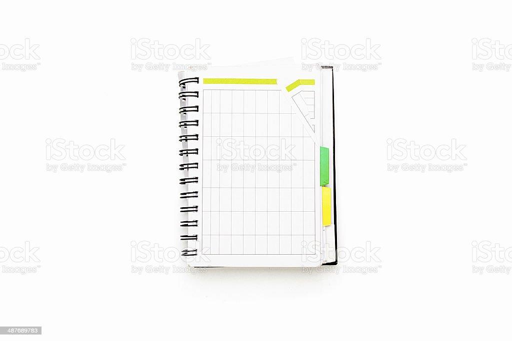 Apri Il Calendario.Apri Calendario Con Raccoglitore Ad Anelli Isolato Su Bianco