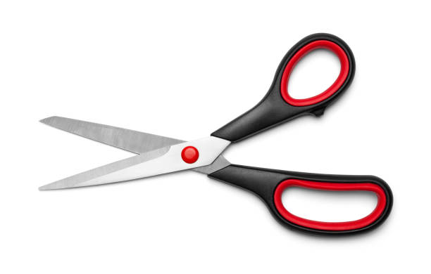 Open Scissors Open Fabric Scissors Isolated on White Background. scissors stock pictures, royalty-free photos & images