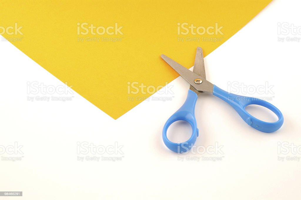Open scissors royalty-free stock photo