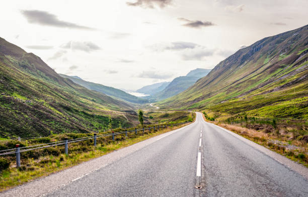 Open Scottish Road stock photo
