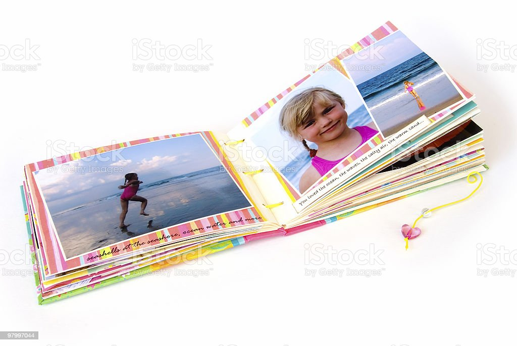 Open scrapbook album royalty free stockfoto