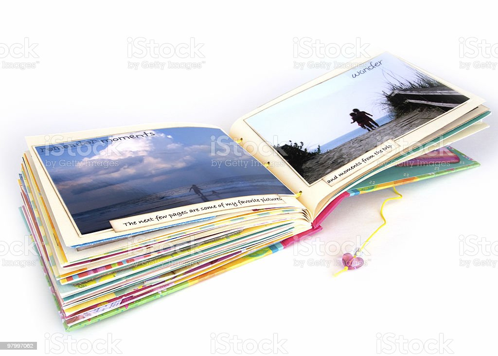 Open scrapbook royalty free stockfoto