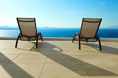 Open Sea with deck chairs
