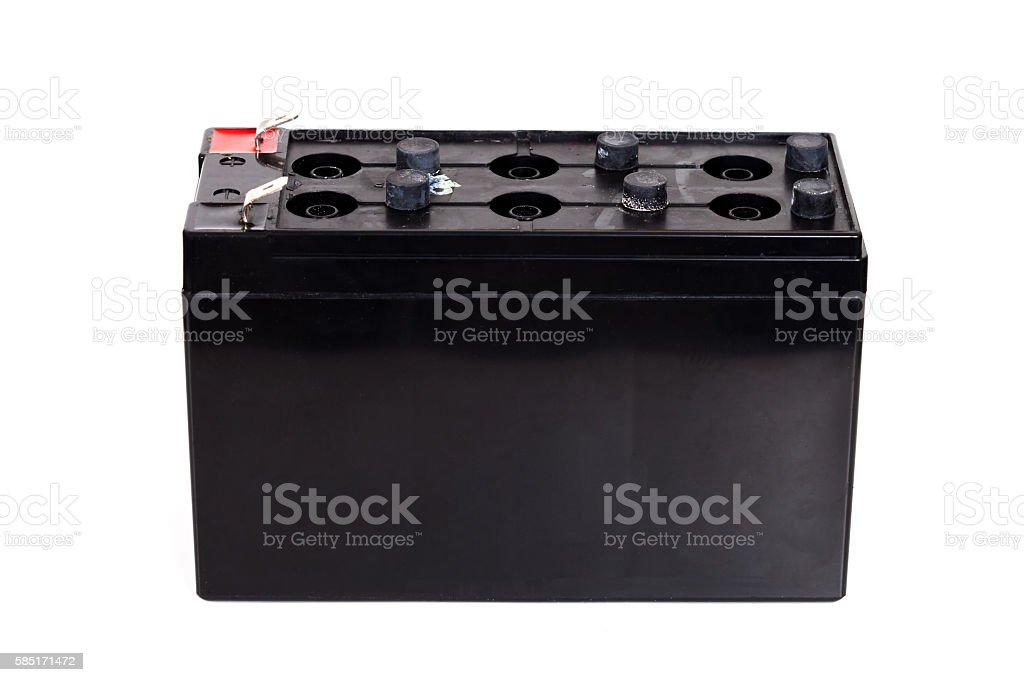 Open Sealed  battery isolated on white background stock photo