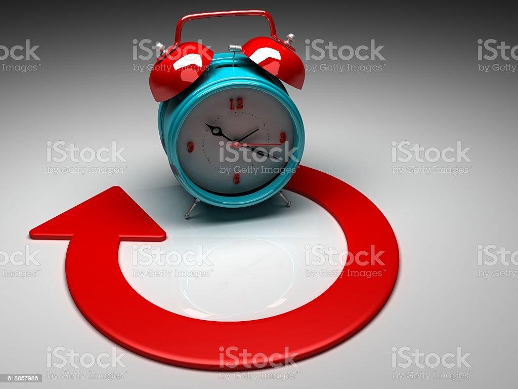 Open Service 24 Hour 3d Concept stock photo
