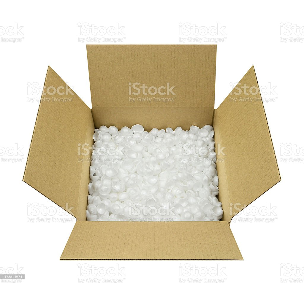 Open Shipping Box royalty-free stock photo