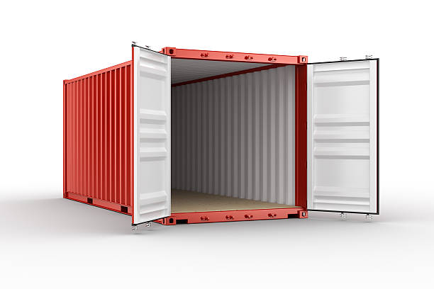 Offene shipping container – Foto