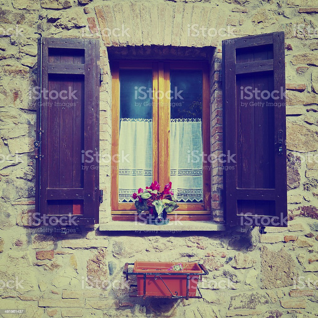 Open Shutters stock photo