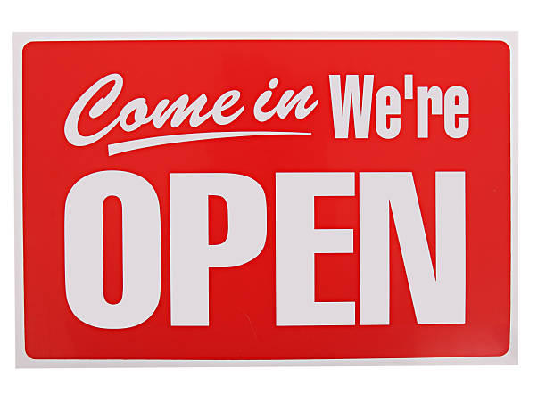 open sign - open sign stock pictures, royalty-free photos & images