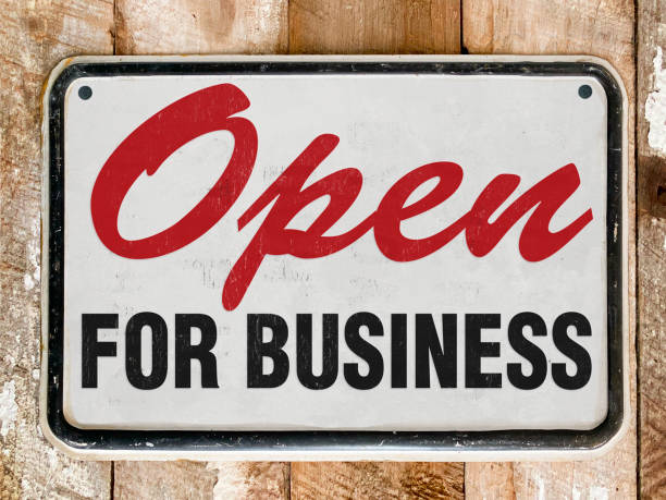 Open Sign Open Sign gun shop stock pictures, royalty-free photos & images