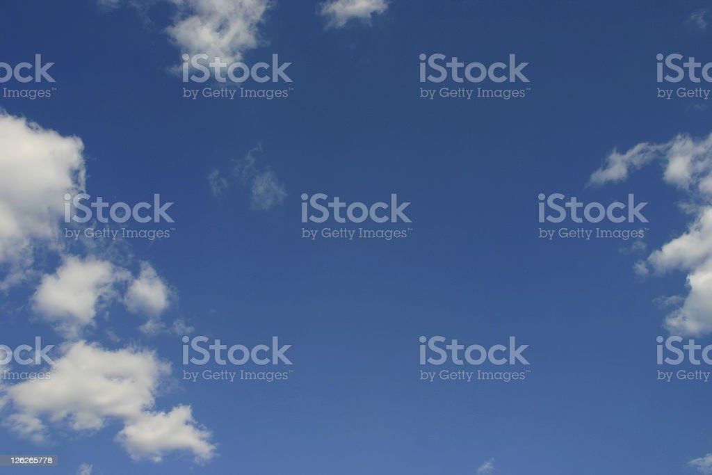 Open sky - blue sky with cloud frame royalty-free stock photo