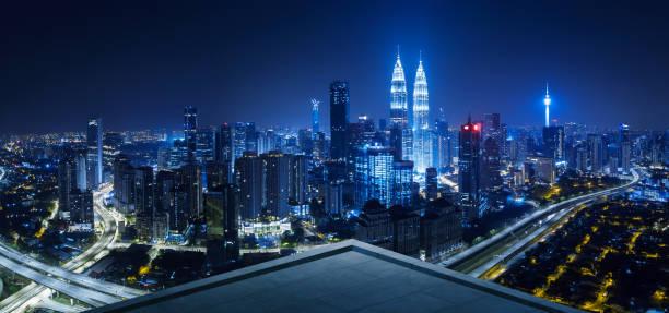 쿠알라룸푸르 도시와 오픈 스페이스 발코니 - 쿠알라룸푸르 뉴스 사진 이미지