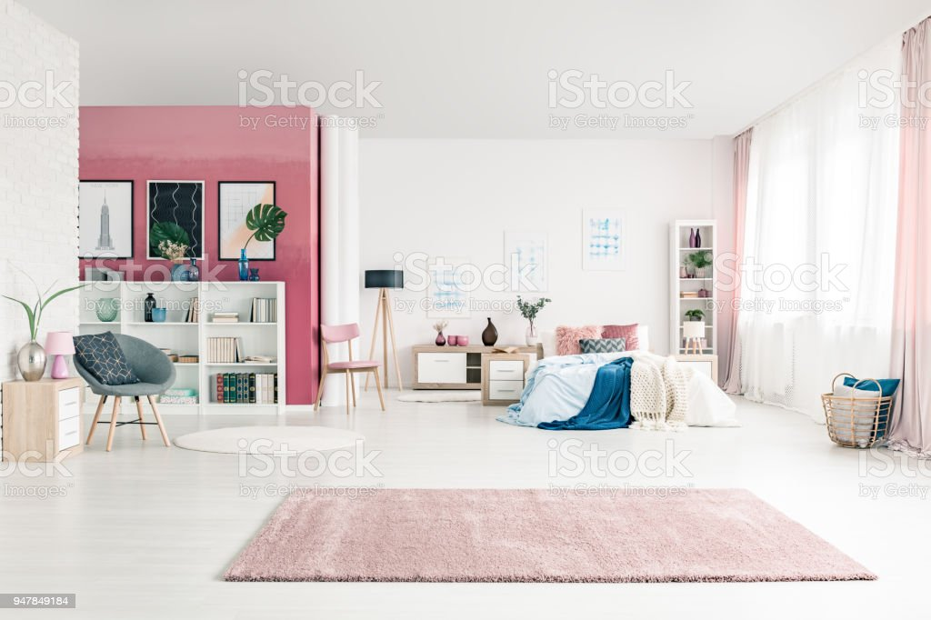 Open space bedroom interior – zdjęcie
