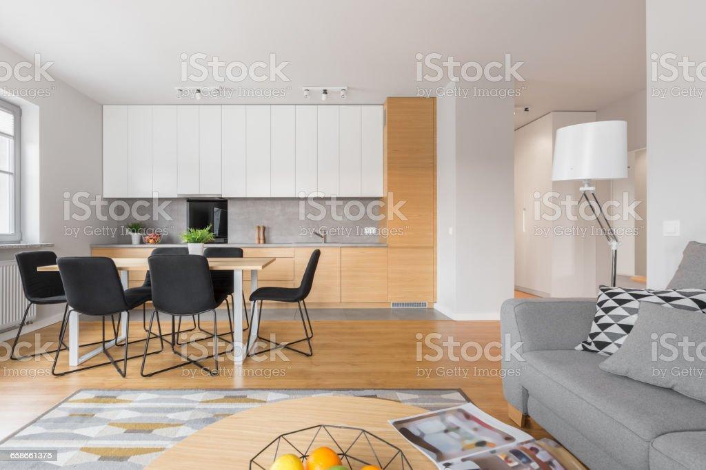 Open space kitchen stock photo