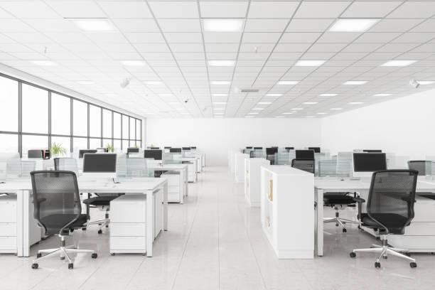 開放空間辦公室 - 無人 個照片及圖片檔