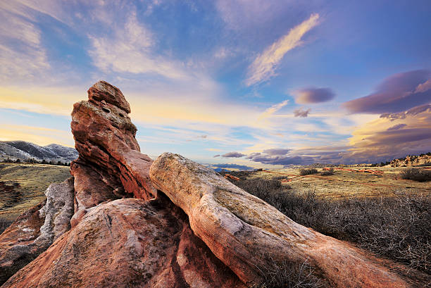 open space park - red rocks stock pictures, royalty-free photos & images