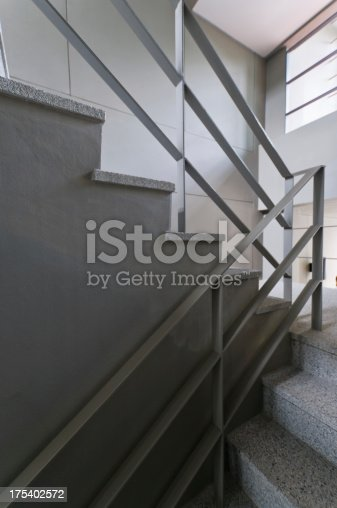 187200991 istock photo Open stairwell in a modern building 175402572