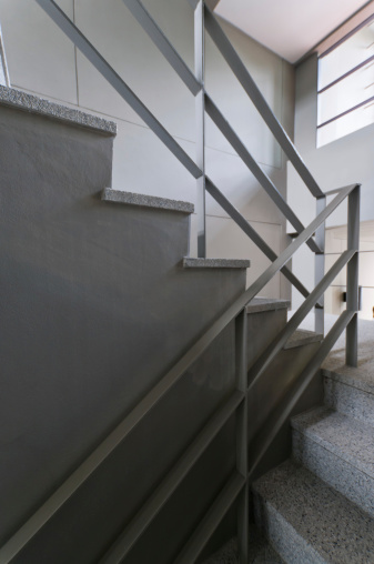 Open stairwell in a modern building  .