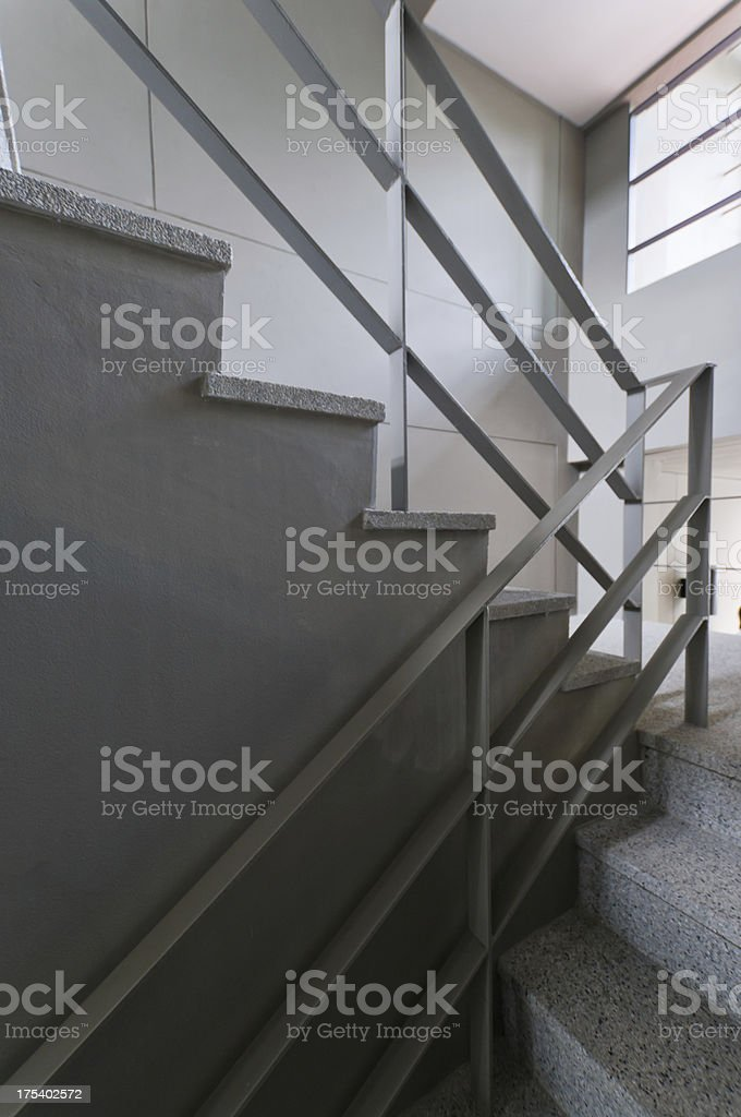 Open stairwell in a modern building stock photo