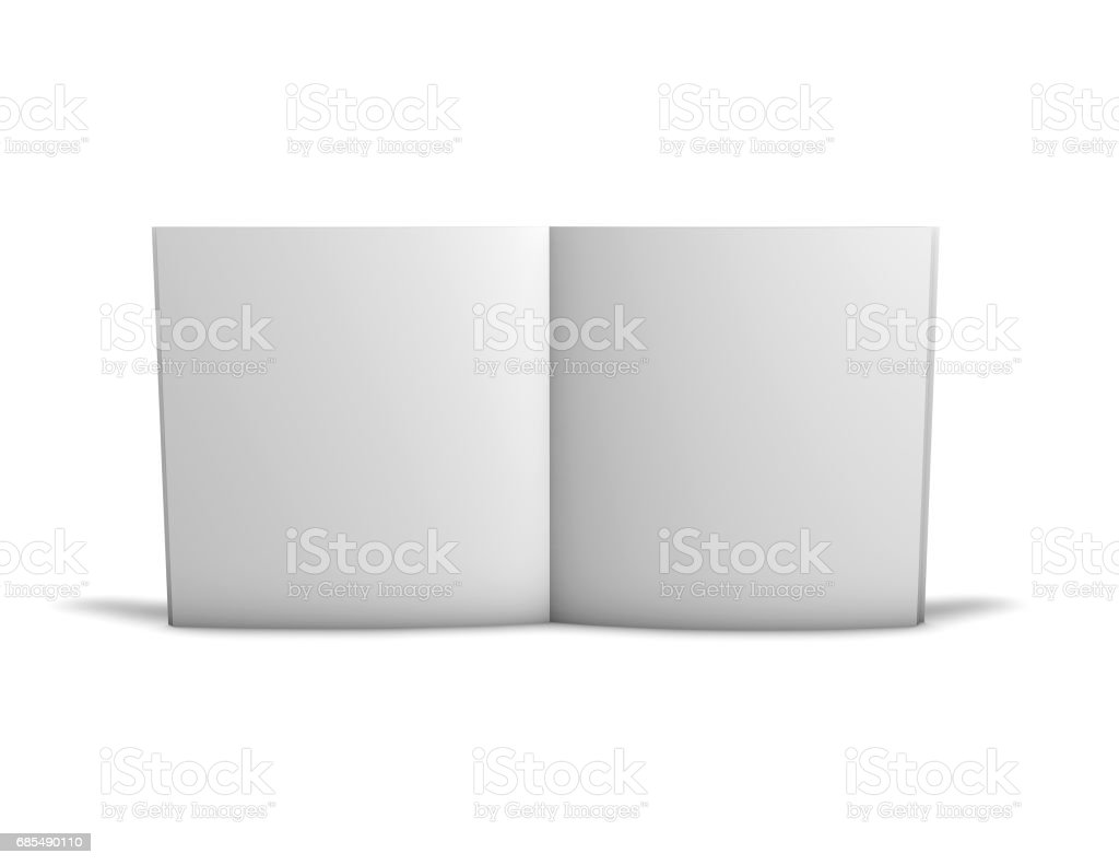 Open Standing Brochure With Blank Pages Template Image Stock Photo ...