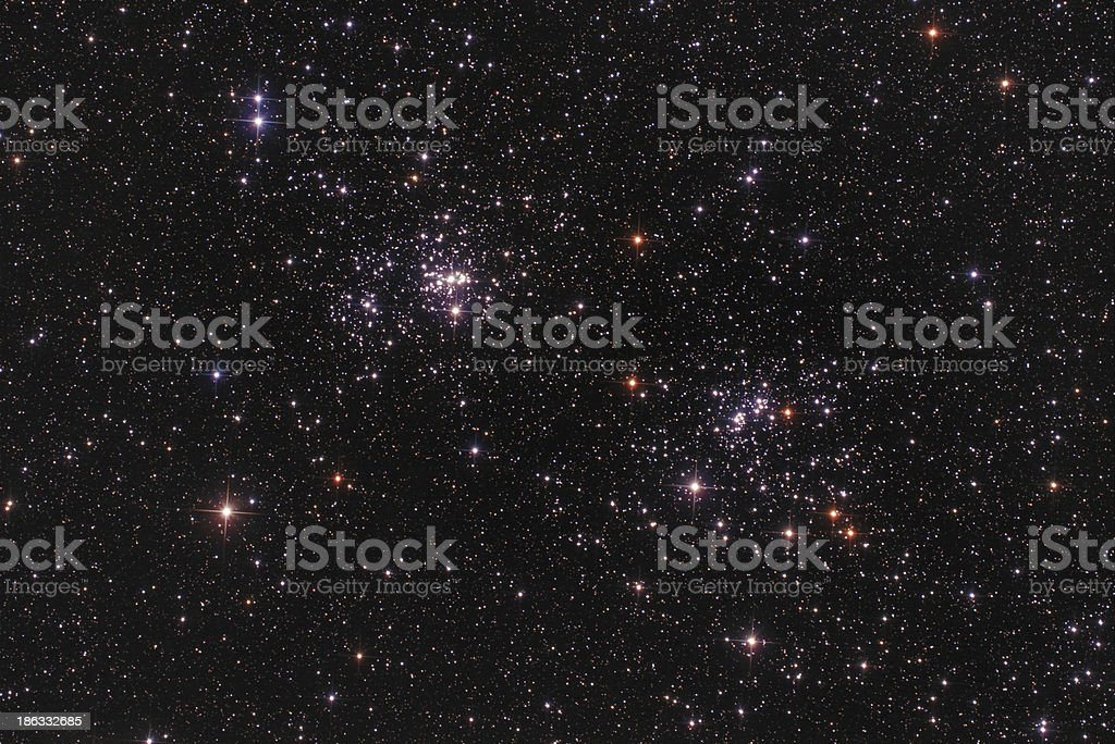 Open Star Clusters in Perseus Constellation royalty-free stock photo