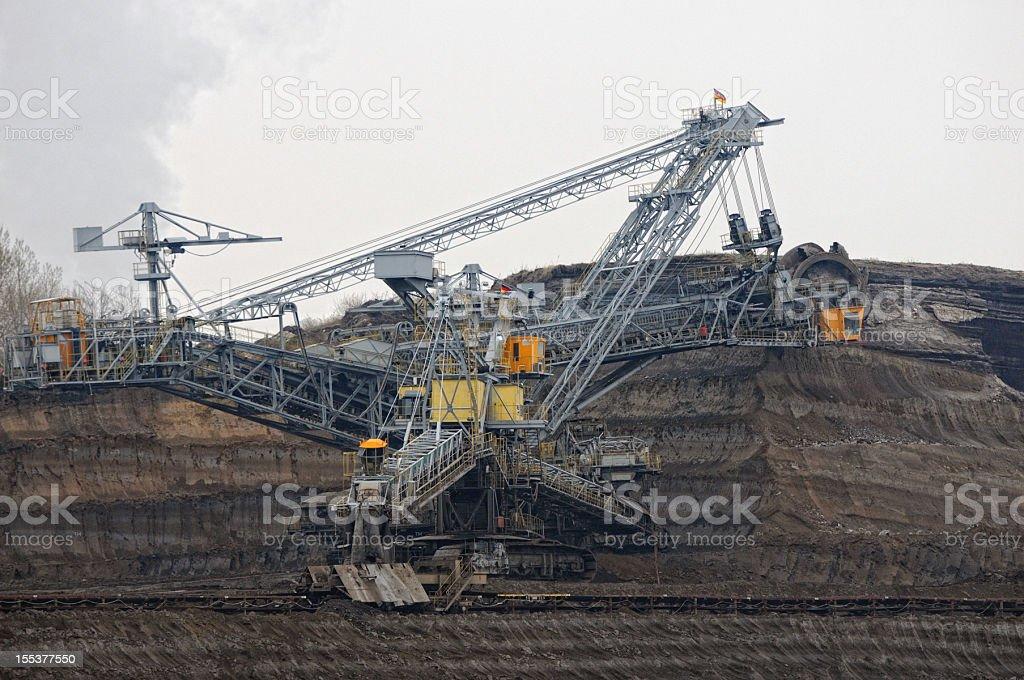 open Strip Coal mine stock photo