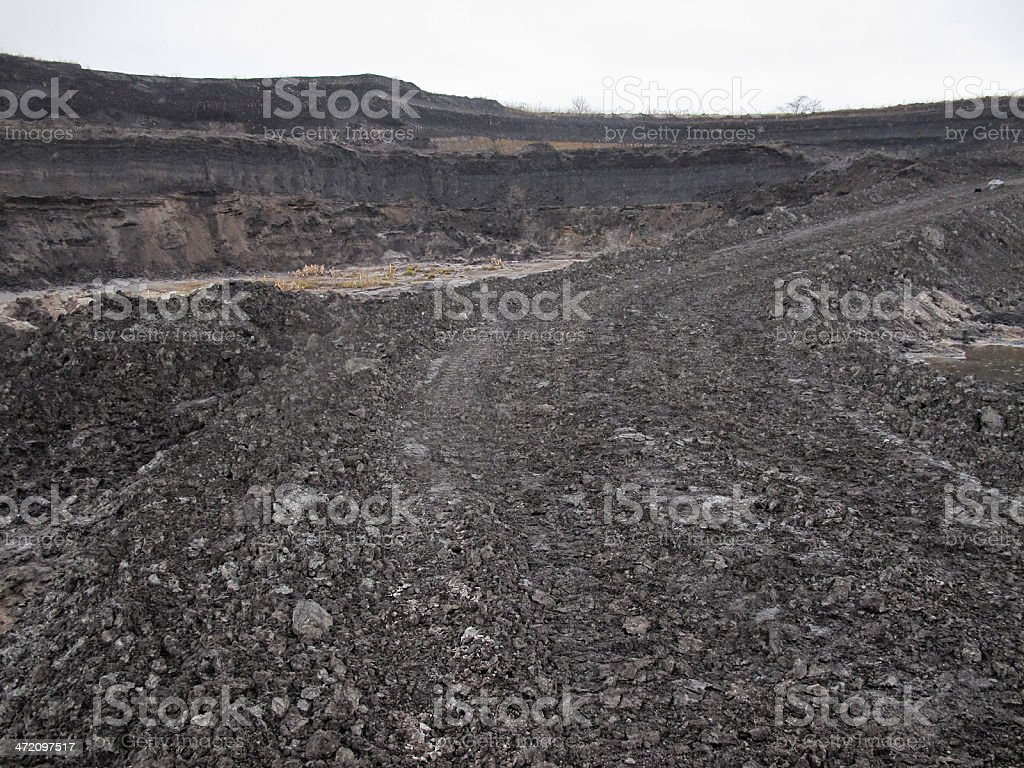 open Strip Coal mine stock photo