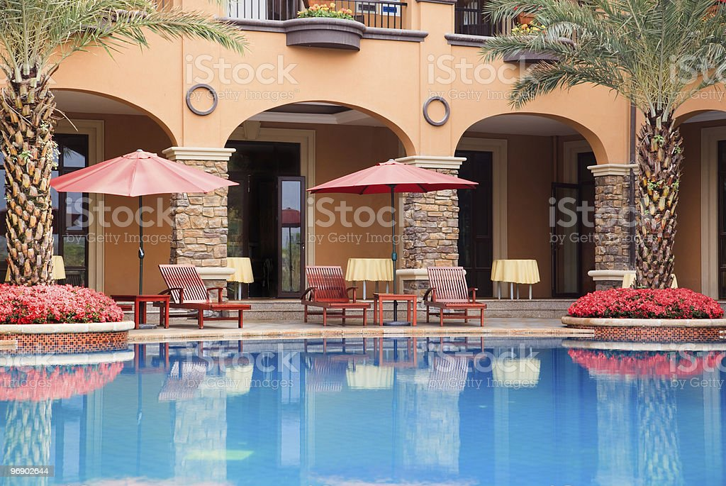 Open swimming pool royalty-free stock photo