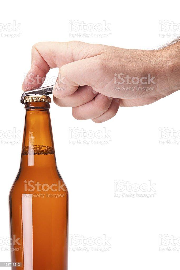 Open the beer stock photo