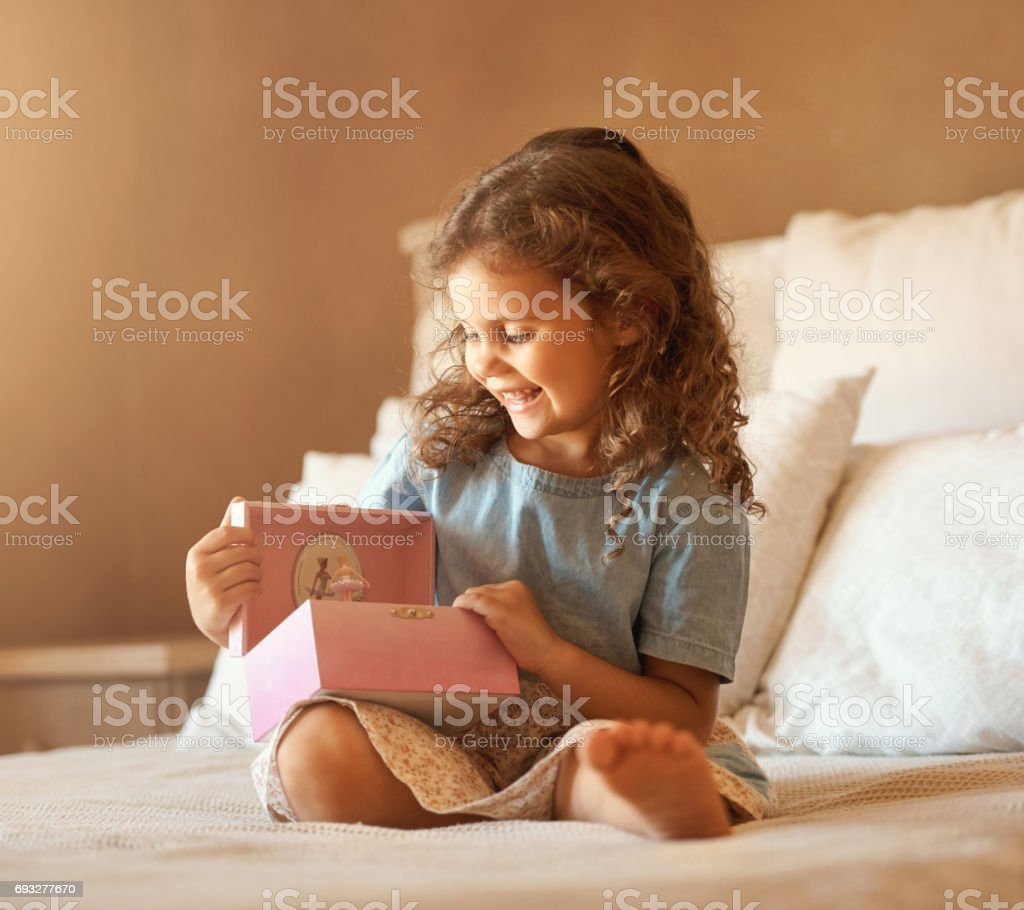 Open the box and find a world of amazement stock photo