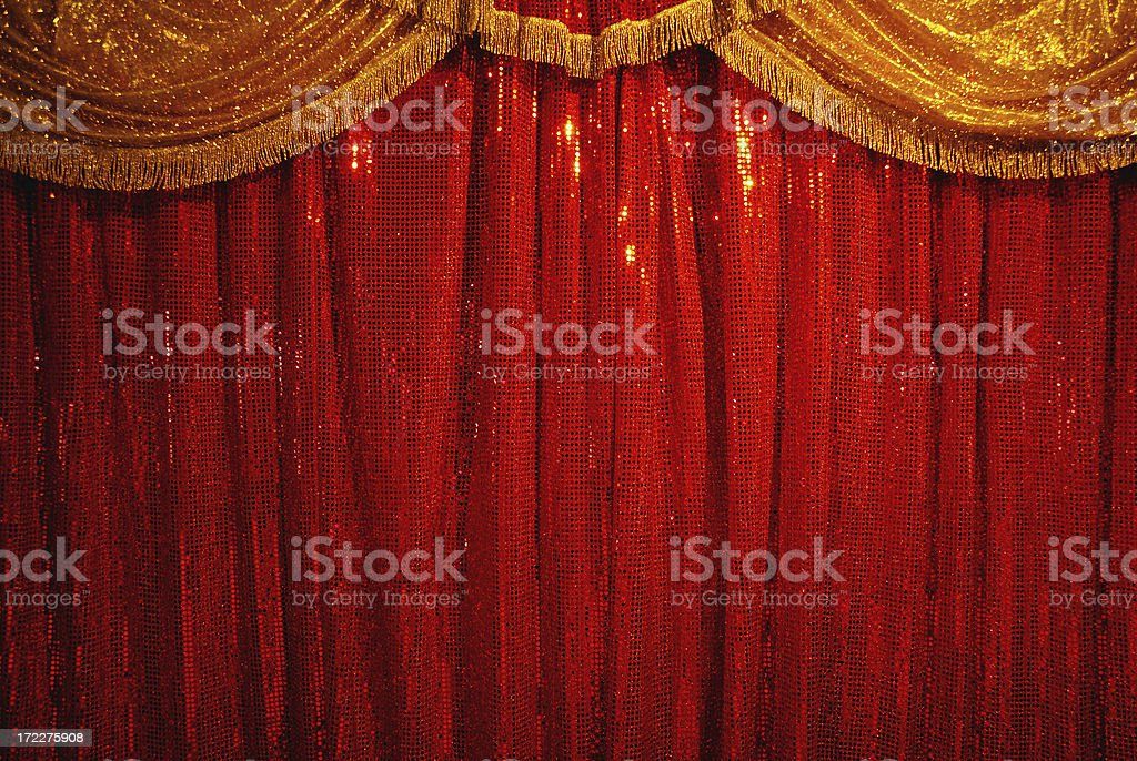 open the curtain royalty-free stock photo