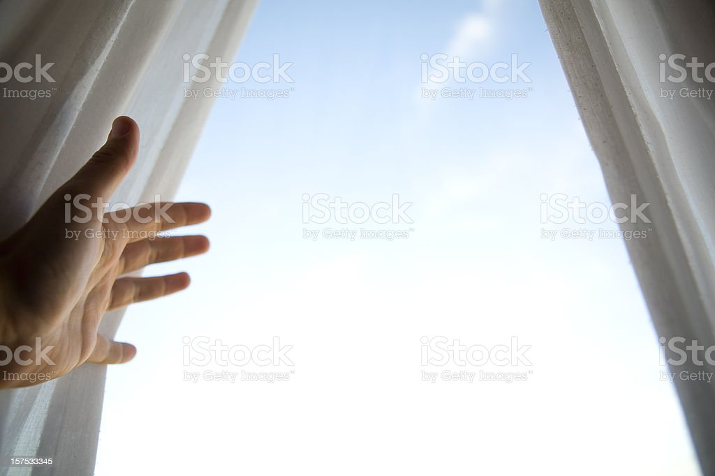 Open the Curtains stock photo