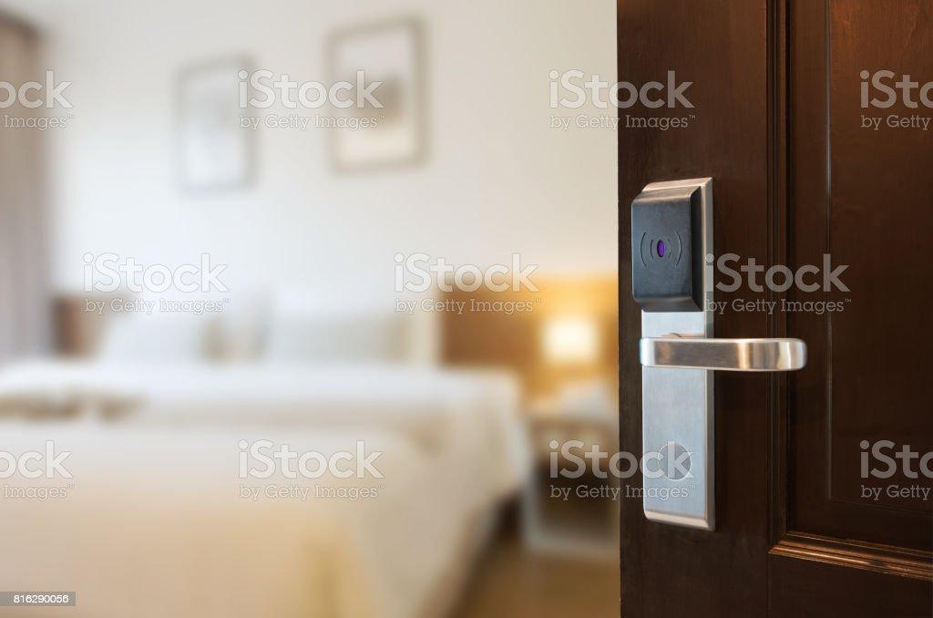Open the door stock photo