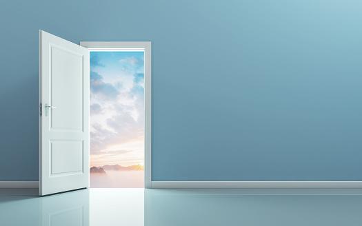 Open the door and see the nature behind the door