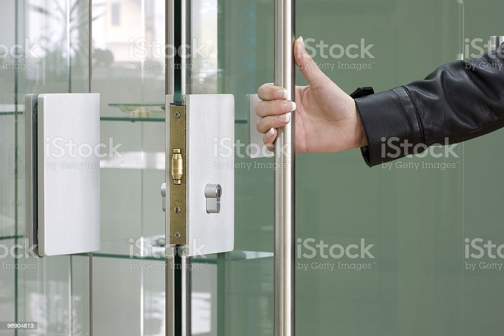 Open the door royalty-free stock photo