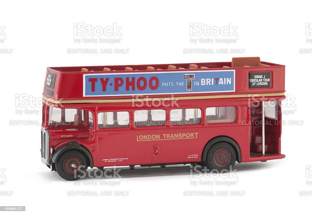 open top tour bus stock photo