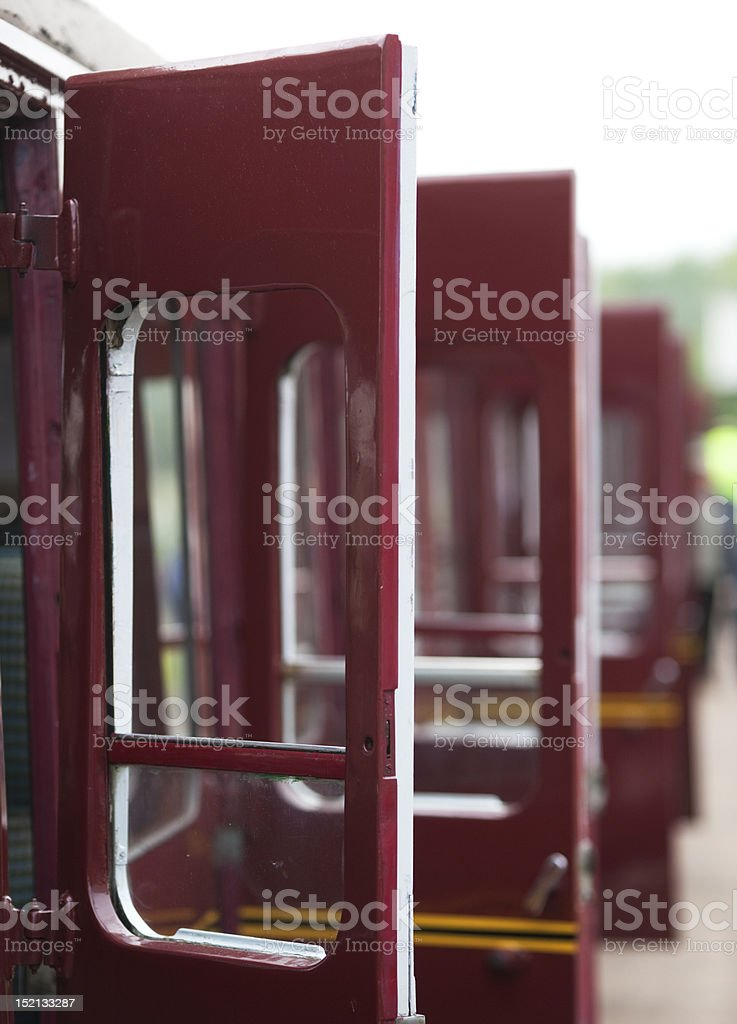 Open Train Doors royalty-free stock photo
