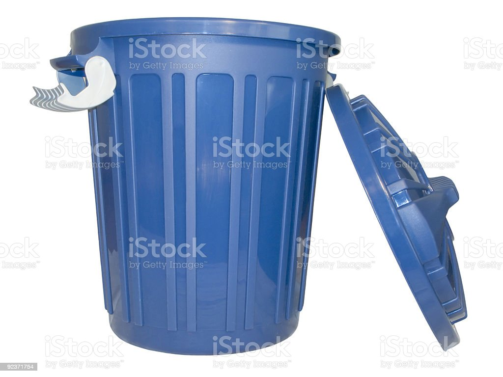 Open trash can royalty-free stock photo