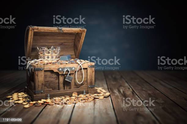 Open treasure chest filled with golden coins gold and jewelry picture id1191489499?b=1&k=6&m=1191489499&s=612x612&h=dzs  ogzqgubnuwn9yjct1ruzniqixugpei1n wqvoa=