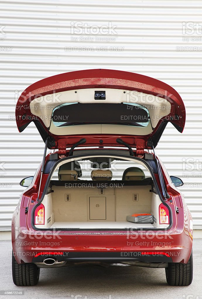 Open trunk on a Sports Tourer stock photo