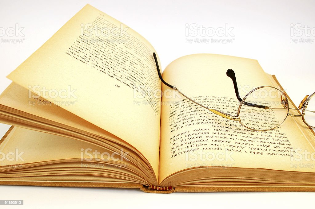 open vintage book #6 stock photo