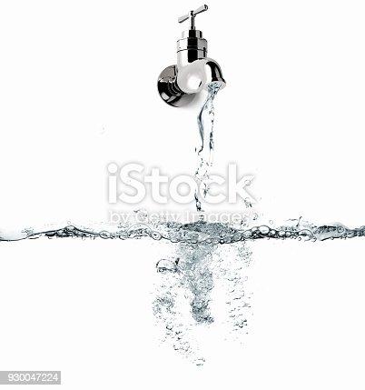 3D rendering of a open water faucet