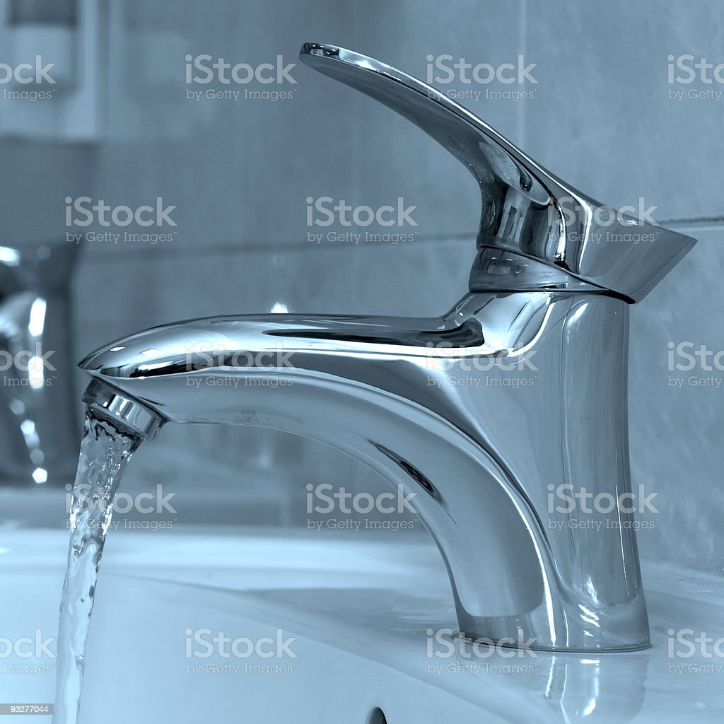 Open water faucet royalty-free stock photo